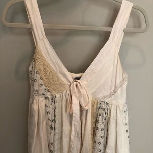 Lithe for Anthropologie front-tie patchwork top